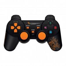Gamepad, Dragon War, G-PC-002, Dual Shock, Black – 13019