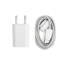 Network charger No brand Travel for Iphone 4/4S, USB adapter 5V/1A 220A, Data cable - 14018