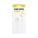 Data cable No brand Lightning - USB,High quality iPhone 5/5s: 6,6S / 6plus,6S plus, White - 14266 - 14266