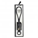 Data cable iPhone Lighting , Remax, Key ring, leather, Black - 14342 - 14342