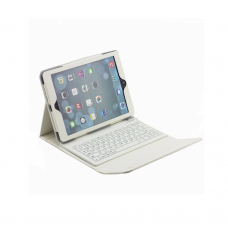 Keyboard cover for iPad-2/3/4 T-BO1, Bluetooth, USB 2.0, DeTech, White - 14692