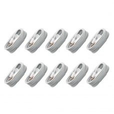 Data cables No brand, 10pcs. For iPhone 5/6/7, 1.0m, White - 14854