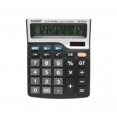 Electronic calculator Kadio KD-9633B, 12 Digits, Black - 17008