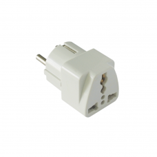 Adapter No brand UK/US to EU Schuko DT 220V, Universal, White - 17108