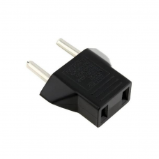 Adapter No brand BX-9619, US to EU, 220V, High Quality, Black - 17705