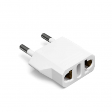 Adapter No brand, US to EU, 220V, 5 pieces, High Quality, White - 17710