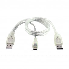 Cable No brand USB - USB Micro, USB, 30сm, Transperent - 18111