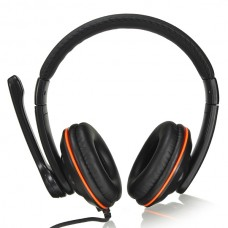 Headphones Ovleng OV-Q5, For PC with Microphone, USB, Black - 20384