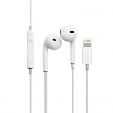 Earphones No brand, For Iphone X, Lightning, Bluetooth, Without microphone, White - 20406