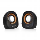 Speakers Kisonli V360, 1.5W*2, USB, Multicolor - 22046 - 22046