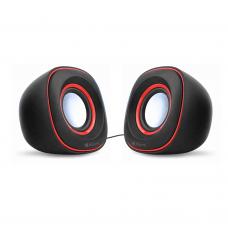 Speakers Kisonli V350, 2x3W, USB, Black - 22061