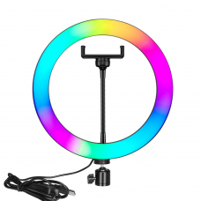 LED Ring light No brand M26, 26cm, RGB, 20W, Black - 40123