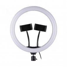 LED Ring light No brand M33, 33cm, 25W, Dual bracket, Black - 40125