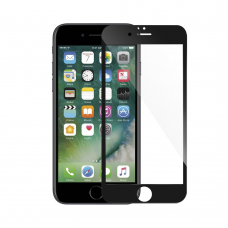 Tempered glass Mocoson, for iPhone 7/8, 5D, Full Glue, 0.3mm, Black - 52637