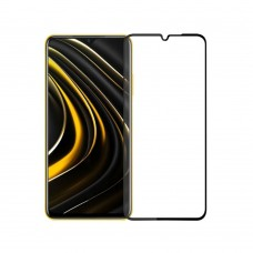 Fullscreen tempered glass No brand, For Xiaomi Pocophone M3, 3D Full Glue, 0.3mm, Black - 52671
