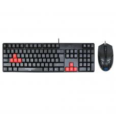Gaming combo mouse and keyboard, ZornWee Revenge II, Black - 6075
