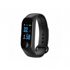 Smart bracelet No brand M3, 18mm, Bluetooth, IP67, Black - 73047