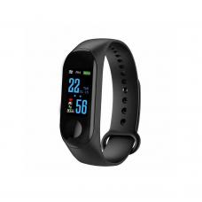 Smart bracelet No brand M3, 18mm, Bluetooth, IP67, Black - 73047