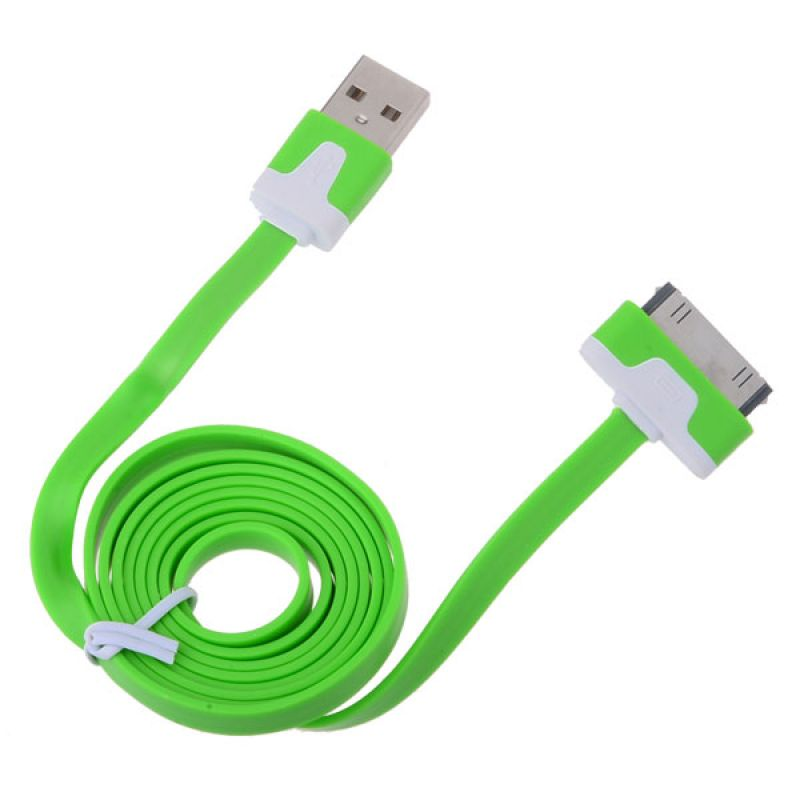 Data cable DeTech USB Lightning for iPhone 4/4s, flat - 14047 - 14047