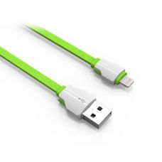 Data cable, LDNIO LS04i, Lightning (iPhone 5/6/7/SE), 1.0m, Green/white - 14394