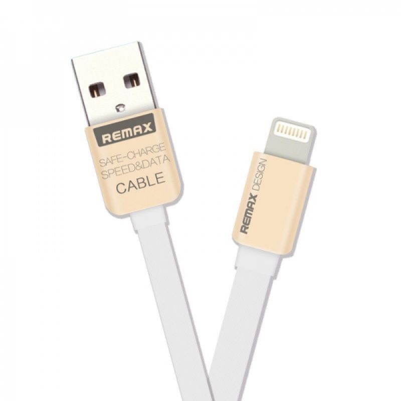 Data cable, iPhone 5/6/7 Lightning, Remax KingKong, 1.0m, White - 14428 - 14428