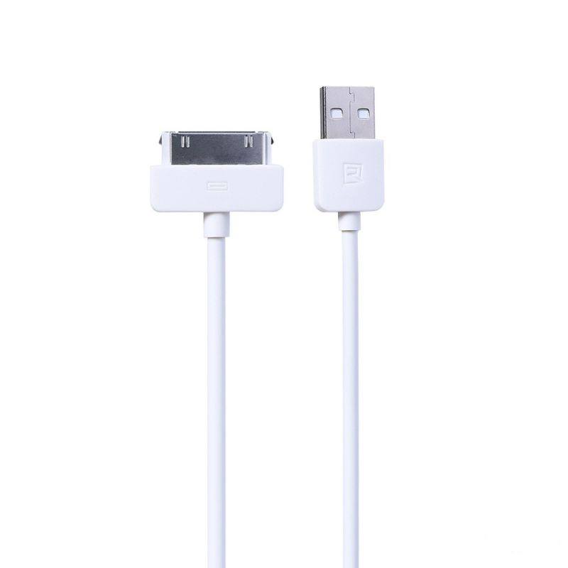 Data cable, Remax Light RC-006i4, iPhone 4 30 Pin, 1.0m, White - 14821 - 14821
