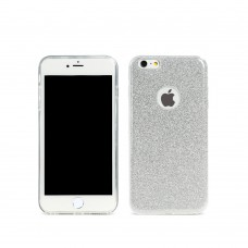 Протектор за iPhone 6/6S, Remax Glitter, TPU, Slim, Сребрист - 51428