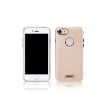 Protector for iPhone 7, Remax Carbon, PU, Gold - 51485