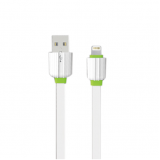 Data cable, EMY MY-443, for iPhone 5/6/7, 1.0m, White - 14450