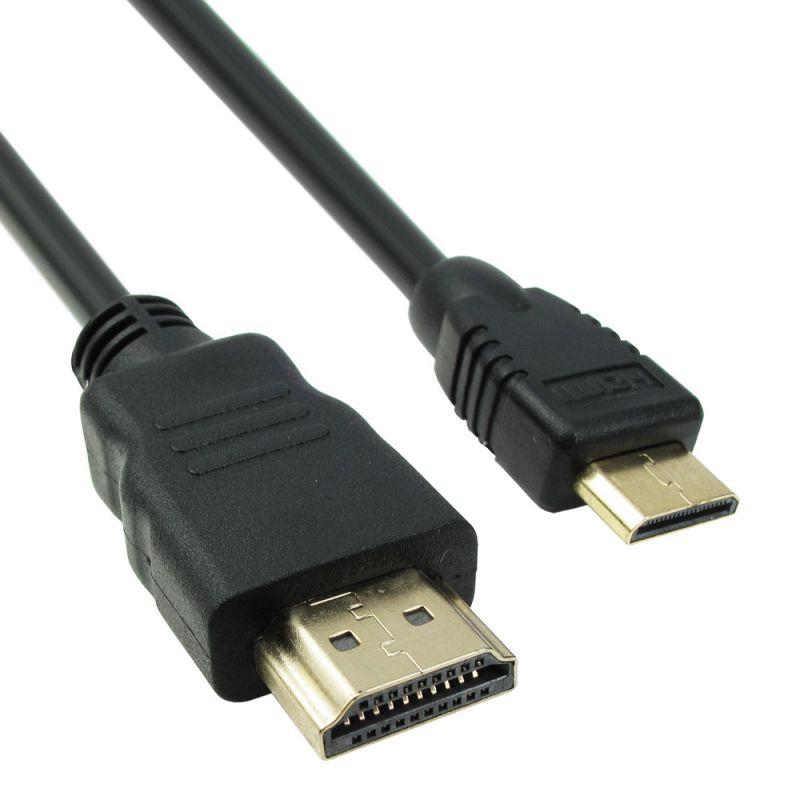 Cable DeTech HDMI - HDMI mini, 1.5m, Black -18066