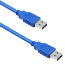 Cable DeTech USB M / USB M 3.0 3m, Blue - 18144