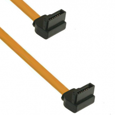 Cable SATA DeTech, 25cm, Yellow - 18152