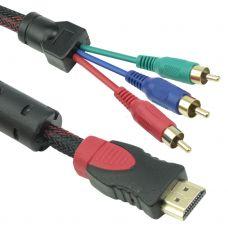 Cable DeTech HDMI 3 RCA, 1.8m, HQ - 18188