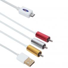 Cable MHL (micro USB) - AV 3RCA, USB, No brand 1.8m - 18231