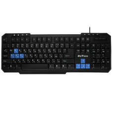 Multimedia Keyboard DeTech KB331M, USB, Cyrilized, Black - 6037