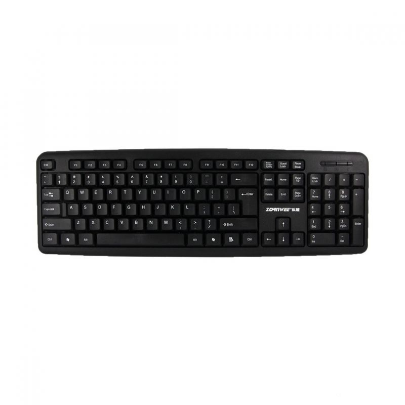 Keyboard, ZornWee 920, USB, Black - 6057 - 6057