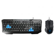 Gaming combo mouse and keyboard, ZornWee x6000, Black - 6065