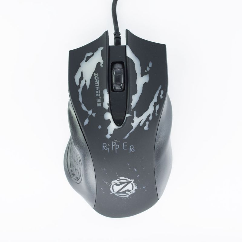 Gaming mouse, ZornWee Ripper, Optical, Black - 963 - 963