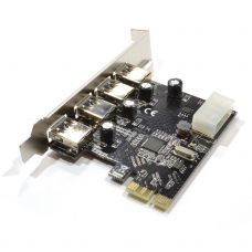 PCI-E to USB 3.0 4 port, No Brand -17472