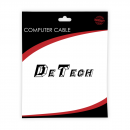 Cable DeTech LAN - LAN, CAT5,  0.5m -18252 - 18252