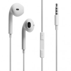 Headphones No brand for Iphone with handsfree, White  - 20244