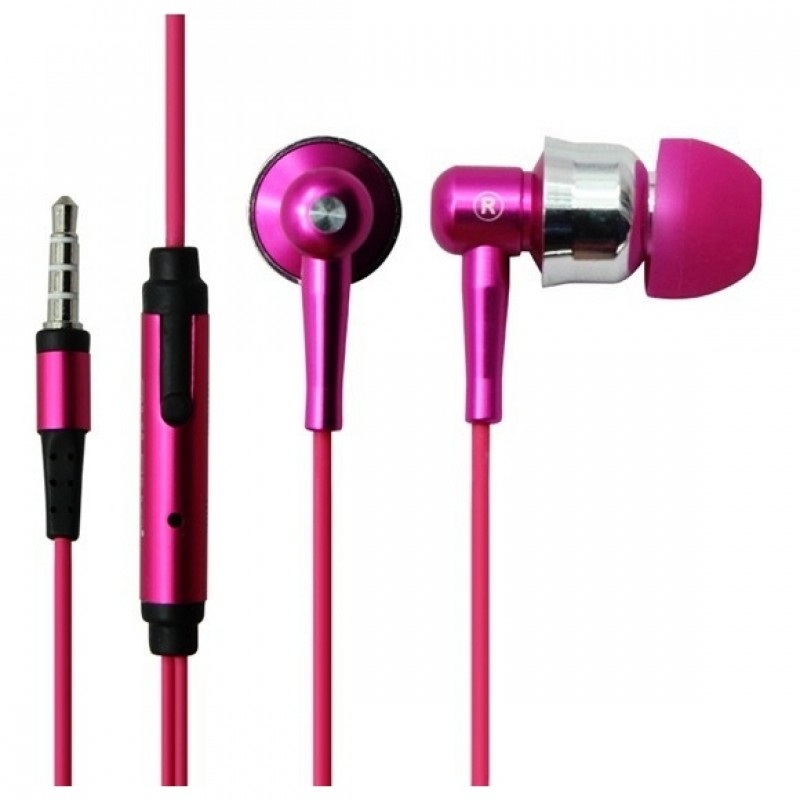 Headphones Ovleng IP670 for smartphone with a microphone,Pink- 20276 - 20276