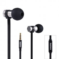 Headphones Remax RM-565i for phone with microphone, metal, Black - 20299