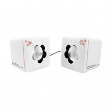 Speakers Camac CMK-898, 1.5W*2, USB, White/ Black - 22005