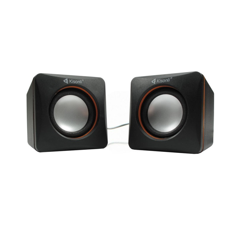 Speakers Kisonli V400, 3W*2, USB, Black - 22043 - 22043