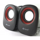 Speakers Kisonli V360, 1.5W*2, USB, Multicolor - 22046 - 22046