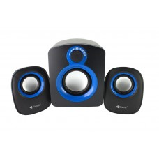 Speakers Kisonli T-008, 5W+3W*2, USB, Black - 22053