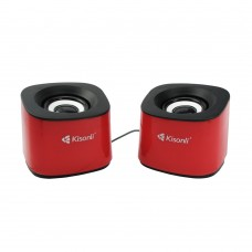 Speakers Kisonli S-333, 2*3W, USB, Different colors - 22056