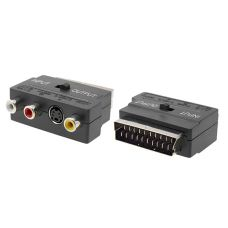 Adapter No brand Scart jacks to cinch and S-Video, Black - 17111
