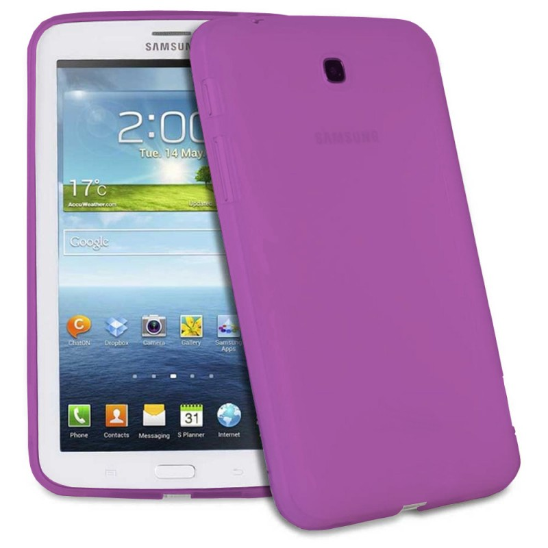 Silicone protector No brand for Samsung T210 Tab3 7  , Purple - 14561 - 14561